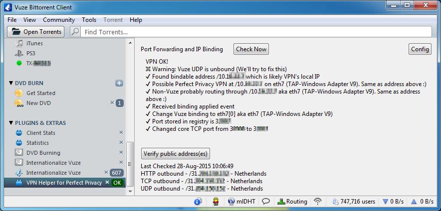 VPN Helper for Perfect Privacy [Vuze Plugin]